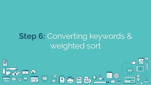 @seodanbrooks Step 6: Converting keywords & weighted sort