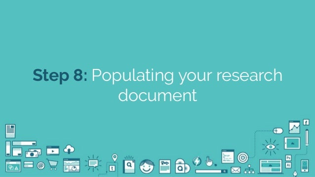 @seodanbrooks Step 8: Populating your research document