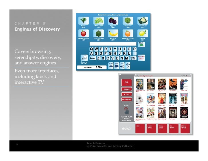 C H A P T E R   5 Engines of Discovery     Covers browsing, serendipity, discovery, and answer engines Even more interface...