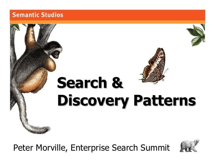 morville@semanticstudios.com     Peter Morville, Enterprise Search Summit                1