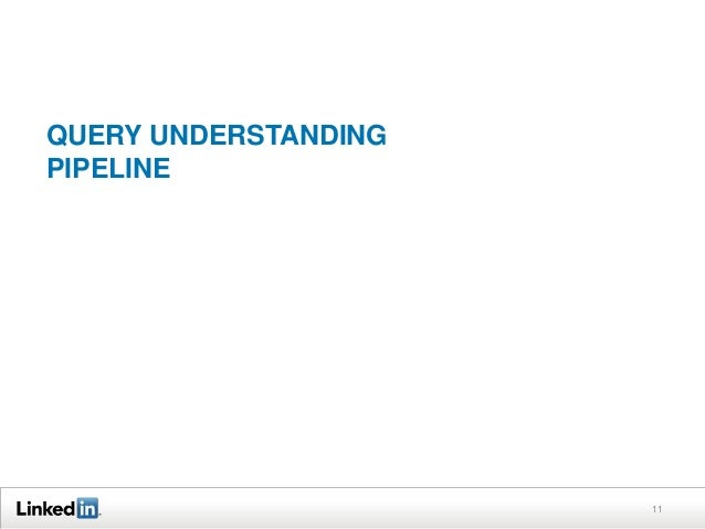 QUERY UNDERSTANDING PIPELINE  11