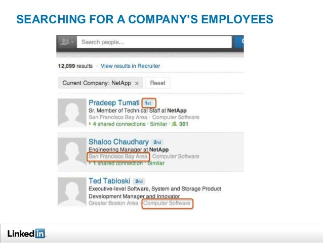 SEARCHING FOR A COMPANY'S EMPLOYEES