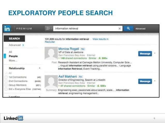EXPLORATORY PEOPLE SEARCH  6