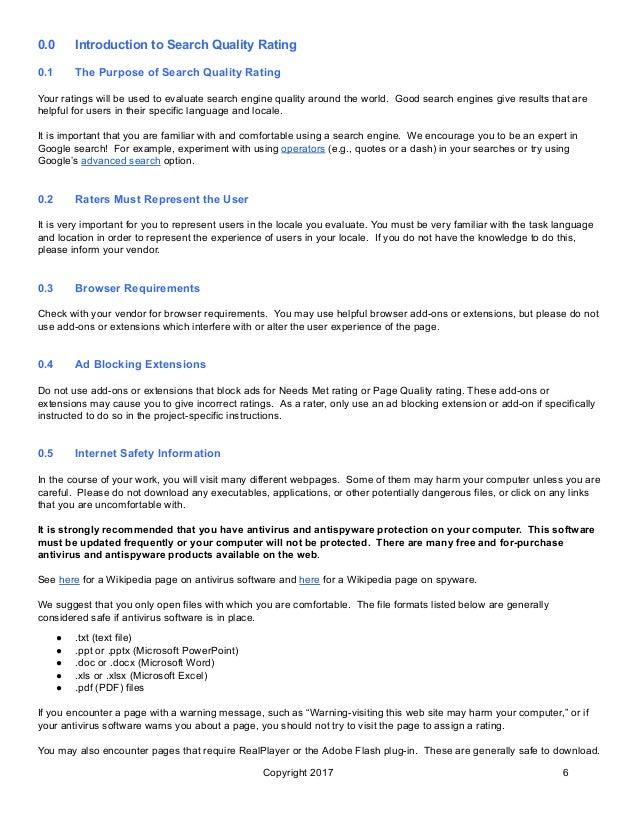 Search quality evaluator guidelines - belajar SEO