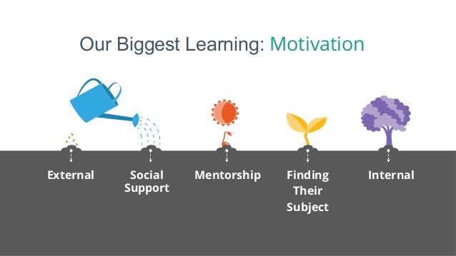 Our Biggest Learning: Motivation External Social Support Mentorship Finding Their Subject Internal