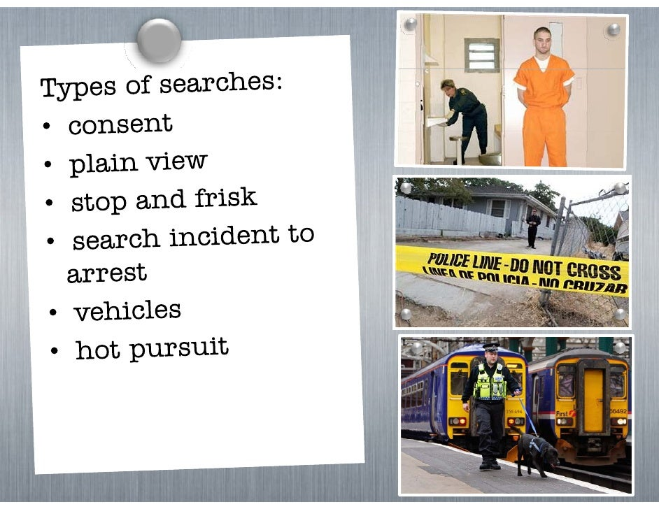 reasonable searches and seizures Sample search and seizure policy statement  authorization and execution of searches and seizures by  a reasonable person should conclude from the.