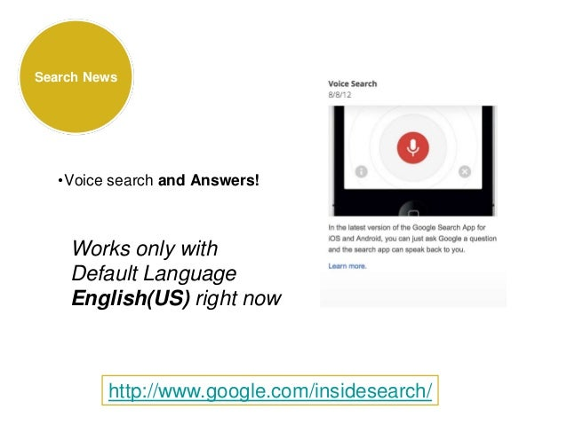 Search News •Voice search and