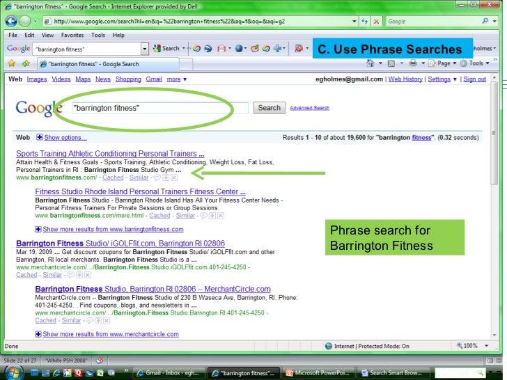 search smart presentation