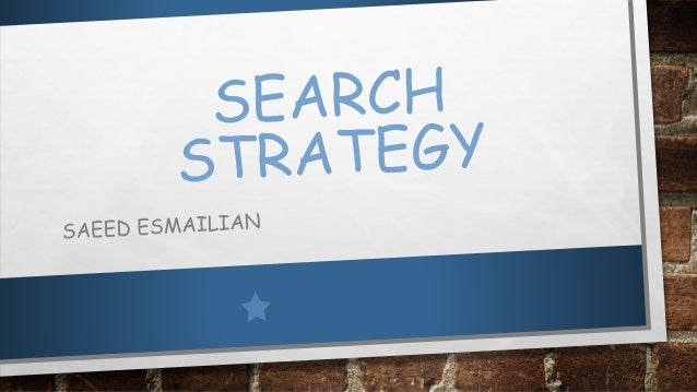 PRIMARY SEARCH  THE BASIC CONCEPTS