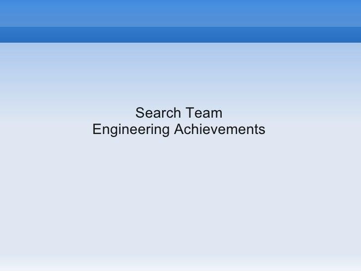 Search TeamEngineering Achievements