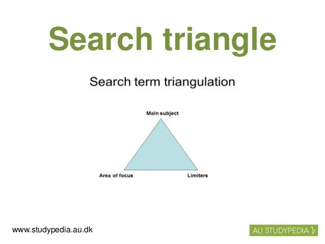 Search triangle www.studypedia.au.dk