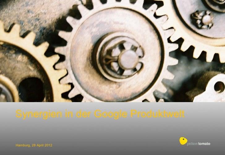 Synergien in der Google ProduktweltHamburg, 28 April 2012