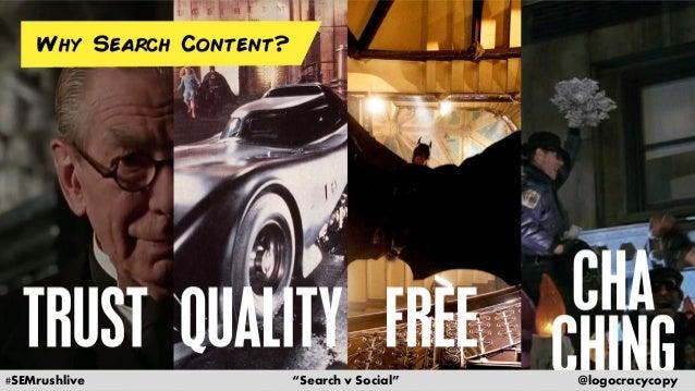 Search Content vs. Social Content Slide 11