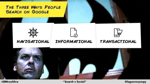 Search Content vs. Social Content Slide 14
