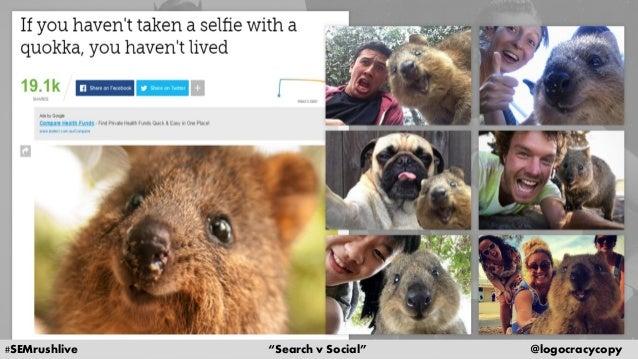 Search Content vs. Social Content Slide 27