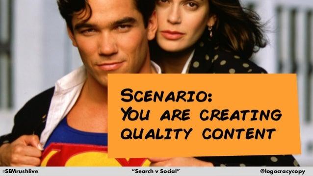 Search Content vs. Social Content Slide 3
