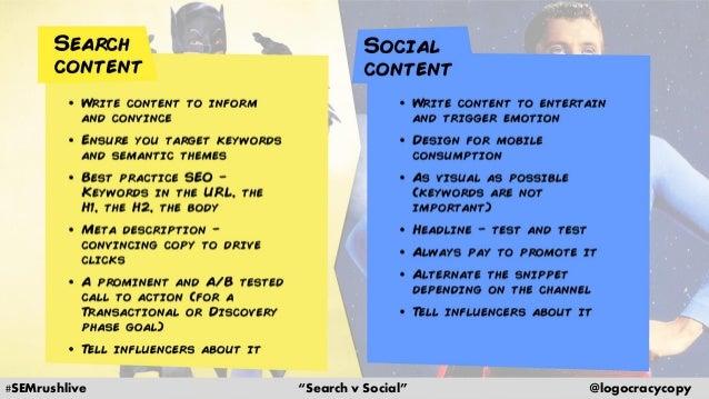 Search Content vs. Social Content Slide 33