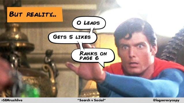 Search Content vs. Social Content Slide 6