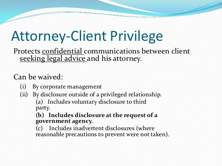Attorney Client Privilege Search Warrant