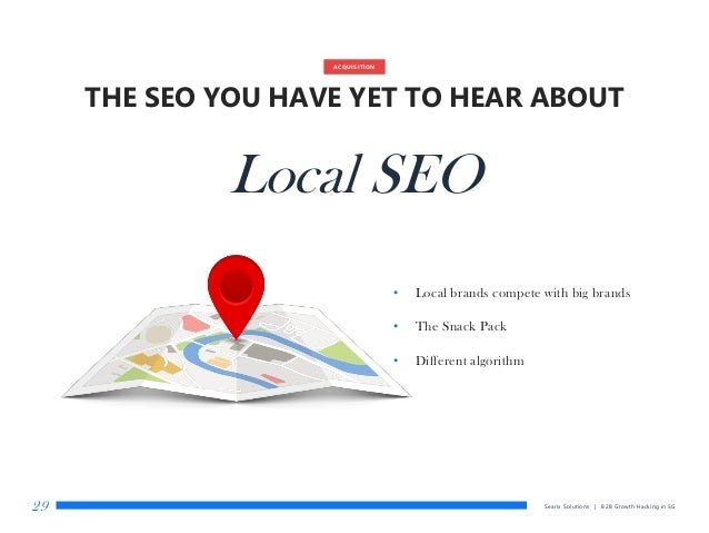 Searix Solutions | B2B Growth Hacking in SG29 ACQUISITION THE SEO YOU HAVE YET TO HEAR ABOUT Local SEO • Local brands comp...