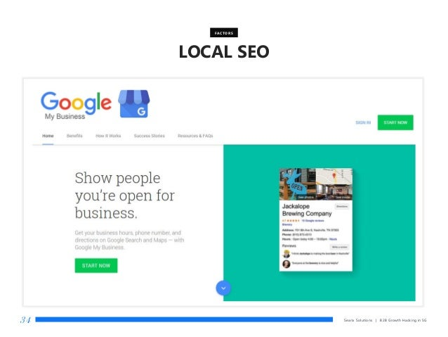 Searix Solutions | B2B Growth Hacking in SG34 LOCAL SEO FACTORS