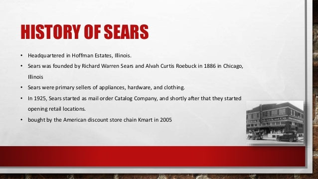 richard warren sears and sears roebuck Richard warren sears was born on december 7, 1863  not only was roebuck the first employee, he became co-founder of sears, roebuck and co in 1895.