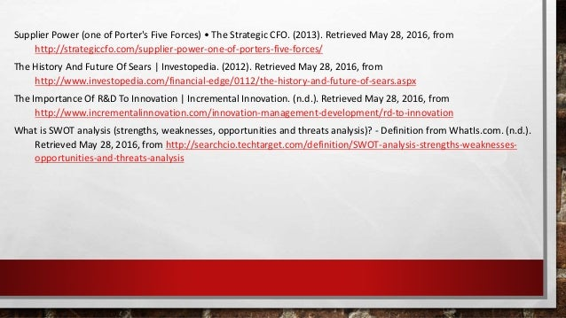 Supplier Power (one of Porter's Five Forces) • The Strategic CFO. (2013). Retrieved May 28, 2016, from http://strategiccfo...
