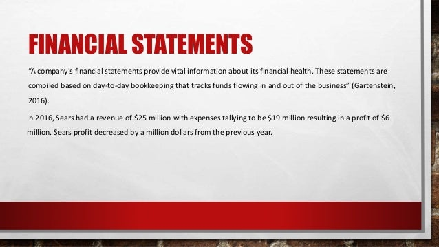 """FINANCIAL STATEMENTS """"A company's financial statements provide vital information about its financial health. These stateme..."""