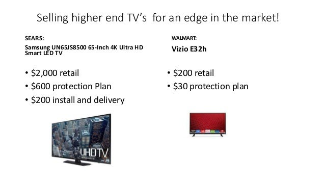 Selling higher end TV's for an edge in the market! SEARS: Samsung UN65JS8500 65-Inch 4K Ultra HD Smart LED TV • $2,000 ret...