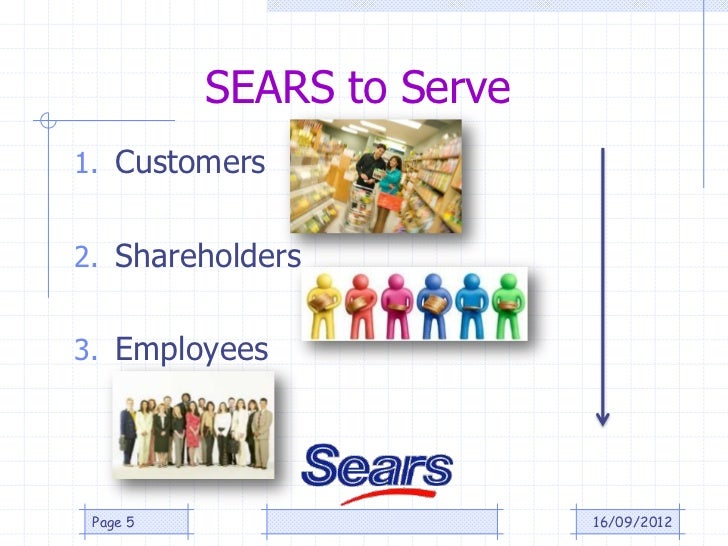 SEARS to Serve1. Customers2. Shareholders3. Employees Page 5                    16/09/2012