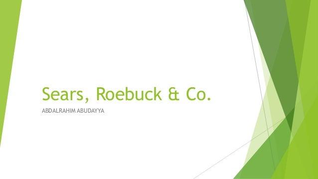 Sears, Roebuck & Co. ABDALRAHIM ABUDAYYA