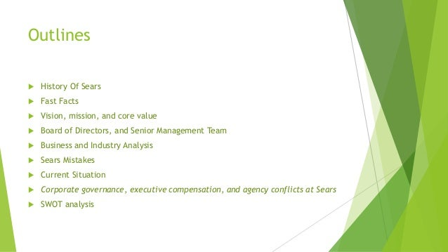 swot analysis of sears roebuck The company operates through kmart holding corporation (kmart) and sears, roebuck and co (sears roebuck)  swot analysis sears holdings corporation: swot overview.
