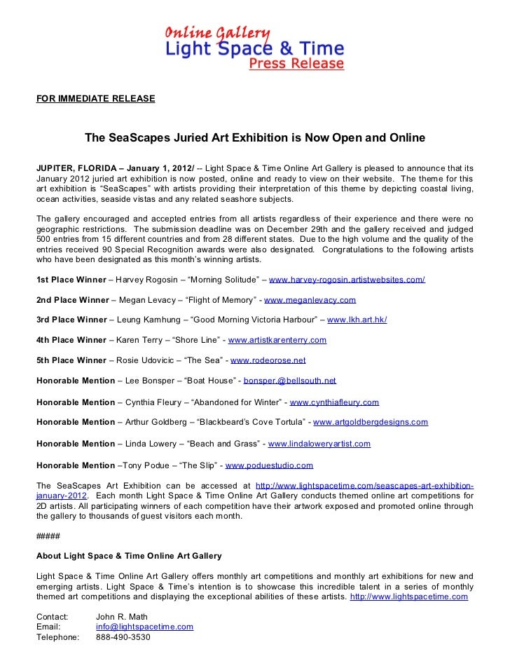 The SeaScapes Juried Art Exhibition Winners Announced