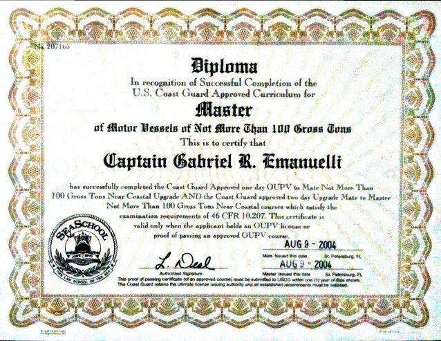 school uscg master captain diploma sea school uscg master captain diploma