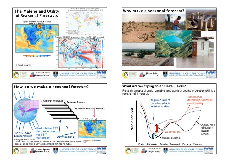 The Making and Utility                                                                    Why make a seasonal forecast?of ...