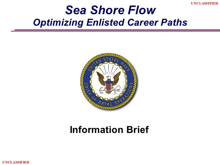 Sea Shore Flow Optimizing Enlisted Career Paths Information Brief