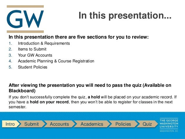 GW SEAS New Graduate Student Online Orientation
