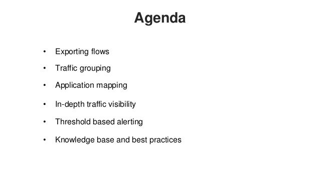 NetFlow Analyzer Training Part I: Getting the initial