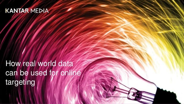 How real world data can be used for online targeting