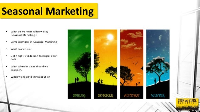 Seasonal Marketing Presentation