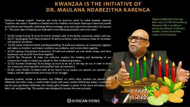 contextualization and observation of kwanzaa by african views 5 638