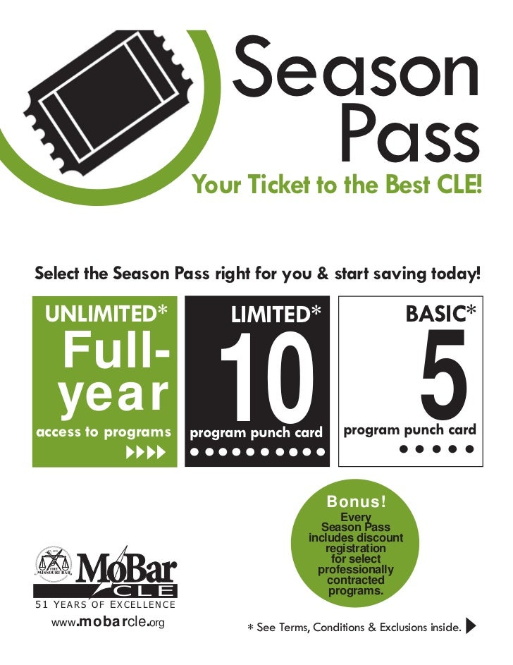 Season                                Pass                         Your Ticket to the Best CLE!Select the Season Pass righ...