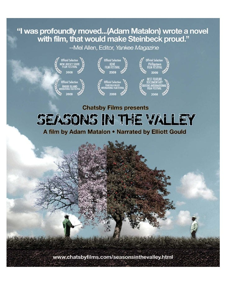 Seasons In The Valley Synopsis             1       When the only permanent thing is change, what endures is the human spir...