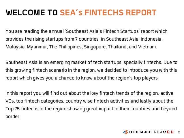 Southeast Asia's Top 75 FinTech Startups Report Slide 2