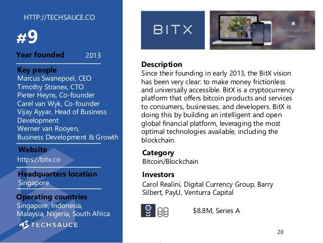HTTP://TECHSAUCE.CO Description Since their founding in early 2013, the BitX vision has been very clear: to make money fri...