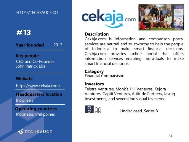 HTTP://TECHSAUCE.CO Description CekAja.com is information and comparison portal services are neutral and trustworthy to he...