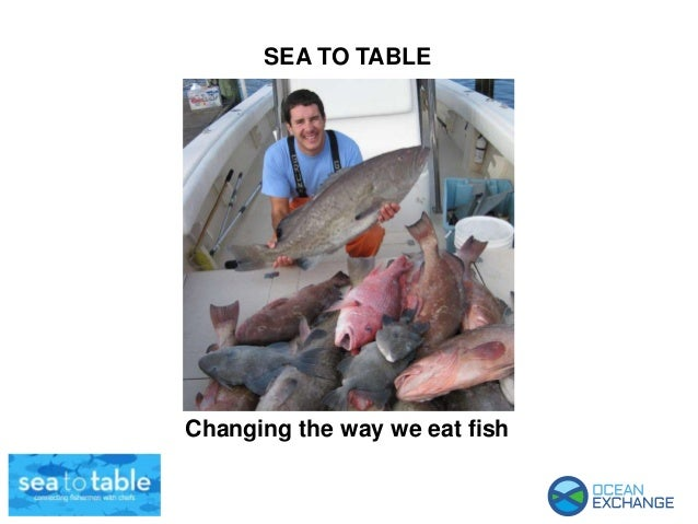 SEA TO TABLE Changing the way we eat fish