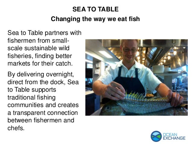 Sea to Table partners with fishermen from small- scale sustainable wild fisheries, finding better markets for their catch....