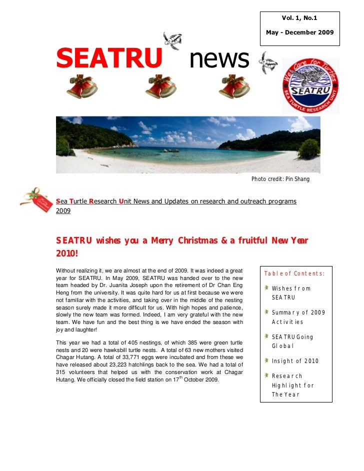 Vol. 1, No.1                                                                                      May - December 2009SEATR...