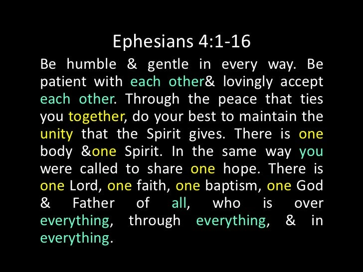 Ephesians 4:1-16Gods favor has been given to each of us. Itwas measured out to us by Christ who gave it.… He also gave [so...
